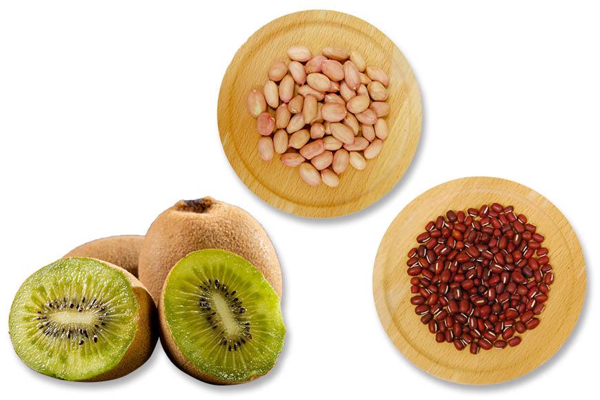 鮮奶麻糬食材搭配推薦:麻糬完成後可以依個人喜好包入水果、紅豆餡、花生粉等,變化成各種口味。