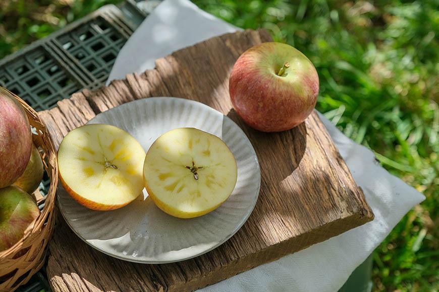 尚蘋果園,尚品果園,林浴沂,蜜蘋果內的透明結晶主要受天候與環境影響。不管有無結晶,風味一樣好!
