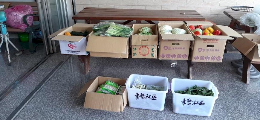 台南分社每週捐贈蔬果格外品給關廟東勢社區。主婦聯盟合作社。關廟東勢社區發展協會。惜食。醜蔬果。