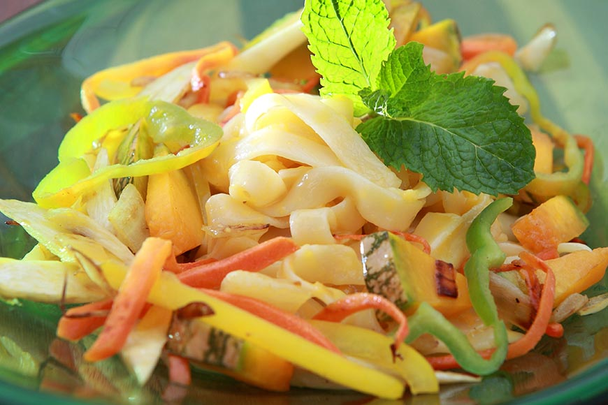 蔬食蛋黃麵-素食